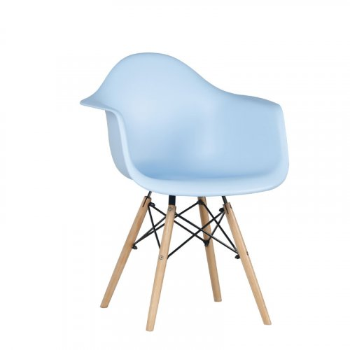 FYLLIANA 617-17-011 Καρέκλα Casual Σιέλ  Κάθισμα Με Φυσικά Πόδια 65χ64χ7