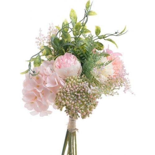 INART  3-85-505-0060 Λουλούδι/Μπουκέτο Pl/Υφασμα. Ρόζ 0024565