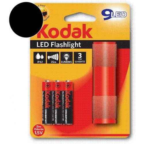 KODAK Φακός 9-LED Μαύρος + 3 x KODAK Μπαταρίες AAA 0012746