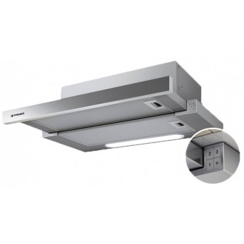 PYRAMIS 065006401 Turbo Slim Inox Απορροφητήρας 60cm - 600 m3/h 0005688