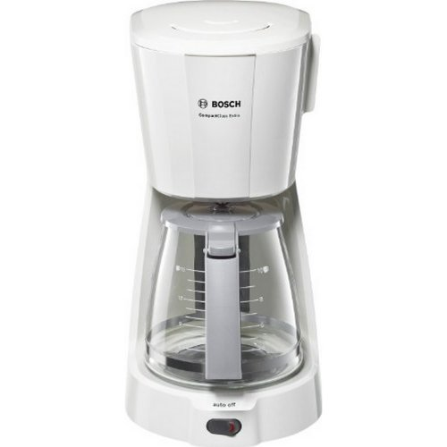BOSCH TKA3A031 CompactClass Extra Καφετιέρα Φίλτρου Λευκή 1100W - 1.25 lt - Για 10 κούπες 0005658