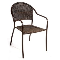 FYLLIANA RATTAN STEEL 410-15-302 Καρέκλα Χαμηλή Μεταλλικό Μπρονζέ