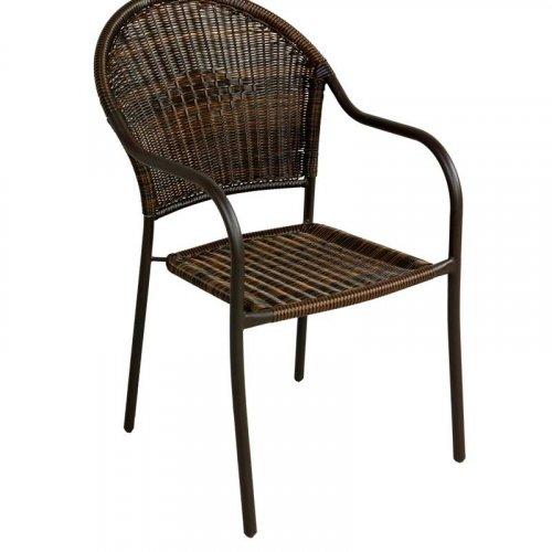 FYLLIANA 410-10-005 Καρέκλα Ratan Steel Καφέ