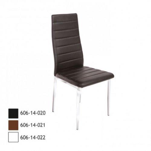 FYLLIANA Y-228 PU 606-14-021 Καρέκλα Καφέ με Χρώμιο 0003070