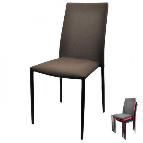 FYLLIANA Y-111 606-14-016 Καρέκλα Καφέ 'Υφασμα