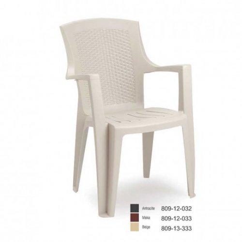 FYLLIANA EDEN 809-12-033 Καρέκλα Πλαστική Καφέ 60*62*89