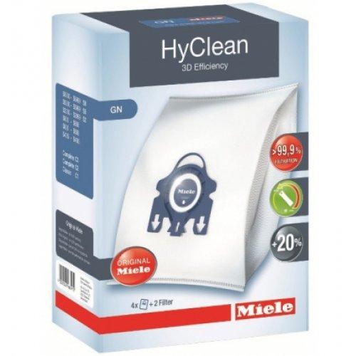 MIELE GN HyClean 3D Efficiency Σακούλες Ηλεκτρικής Σκούπας ORIGINAL - 4 τεμάχια + 2 φίλτρα