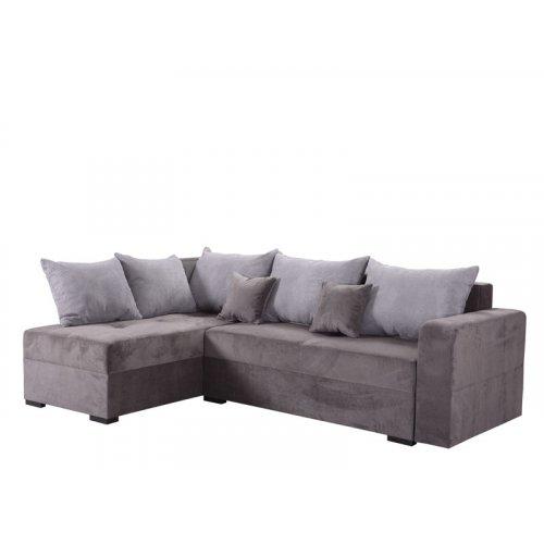 FORMA IDEALE ODIN 21014371 Καναπές Κρεβάτι Γωνιακός Γκρι
