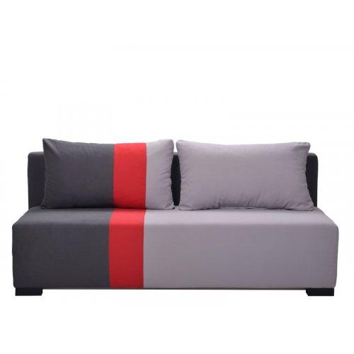 FORMA IDEALE SANTOS 21014337 Καναπές Κρεβάτι Γκρι-Κόκκινο 198*95*81