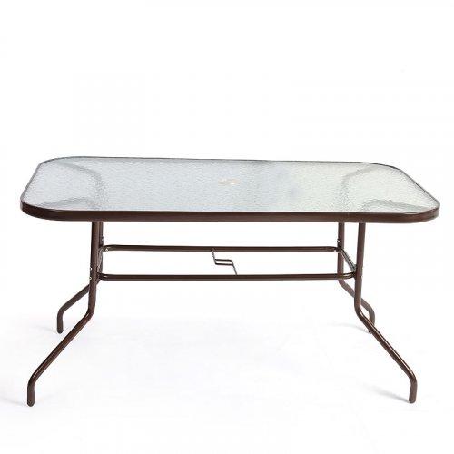 FYLLIANA 418-13-101 Τραπέζι Steel Καφέ 120*70