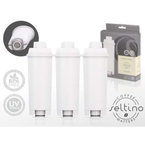SELTINO OVALE Φίλτρο Νερού για Μηχανές Espresso (Αντικαθιστά Delognhi SER3017) 3τεμ 0009556