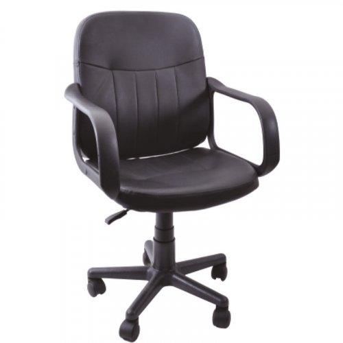 FYLLIANA 2487 093-23-010 Καρέκλα Γραφείου Δερμάτινη Μαύρη
