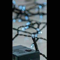 EUROLAMP 600-11540 300 Χριστουγεννιάτικα Λαμπάκια Λευκό LED ανά 5εκ. IP44 σε Σειρά με Πρόγραμμα 18,2 ΜΕΤΡΑ