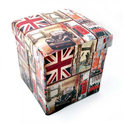 FYLLIANA «LONDON CAR» ZWB-14613-A 136-15-990 Σκαμπό με Αποθηκευτικό Χώρο London 58*34*34