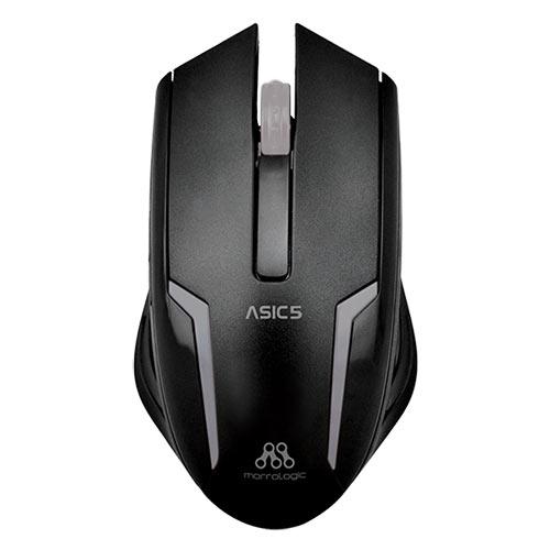 ALCATROZ ASIC5BGM Ενσύρματο Ποντίκι 1000cpi Μαύρο - Ασημί 0011760