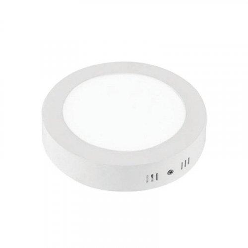 EUROLAMP 145-68019 Φωτιστικό LED Slim Εξωτερικό Λευκό Φ300 24W 4000K