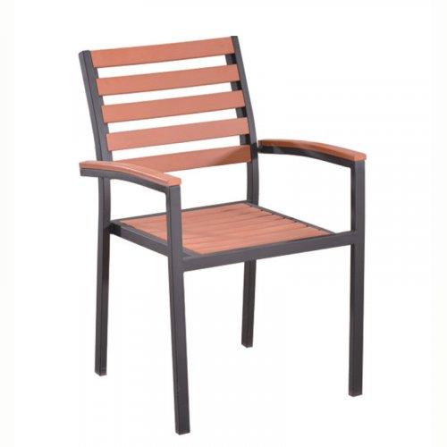 FYLLIANA PC-623 624-17-002 Καρέκλα Polywood Καφέ 56*56*84εκ.