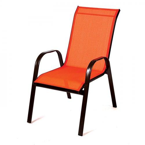 FYLLIANA 418-14-206 Καρέκλα Textline Steel Πορτοκαλί