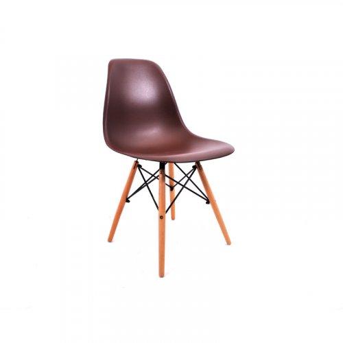 FYLLIANA Y-134 606-25-054 Καρέκλα Καφέ με Ξύλινα Πόδια