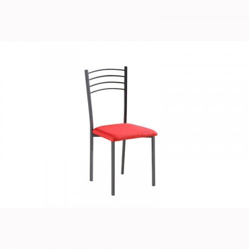FYLLIANA 326 619-26-011 Καρέκλα Κόκκινο Ύφασμα  με Γκρι Πόδια 41.5 x 41 x 89 εκ