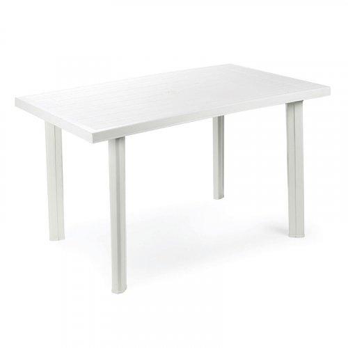 FYLLIANA VELO 809-12-014 Τραπέζι Ορθογώνιο Λευκό Πλαστικό 126 x 76 x 72 εκ.