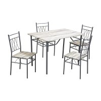 FYLLIANA 211-25-003 Σετ Τραπεζαρία + 4 Καρέκλες Sonoma