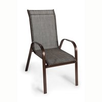 FYLLIANA 418-13-106 Καρέκλα Textline Steel Καφέ