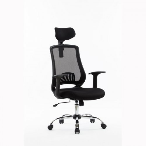 FYLLIANA 424-16-014 W-125T Καρέκλα Γραφείου Μαύρη Πλάτη Δίχτυ / Μαύρο Κάθισμα
