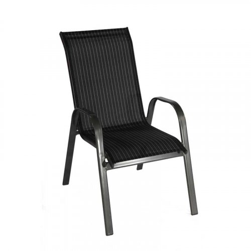FYLLIANA 418-12-006 Καρέκλα Textline Γκρι-Μαύρο