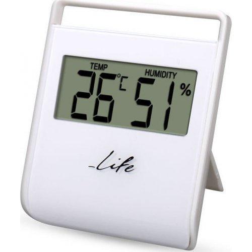 LIFE WES-102 Ψηφιακό θερμόμετρο - Υγρόμετρο Εσωτερικού Χώρου, Λευκό 0012916