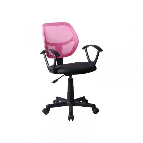 FYLLIANA 5156P 093-27-104 Καρέκλα Γραφείου Μαύρη/Ροζ με Μπράτσα 51*52*80/92Εεκ.