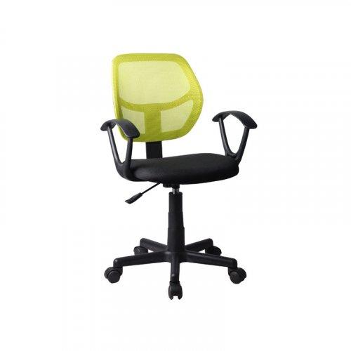 FYLLIANA 5156P 093-27-105 Καρέκλα Γραφείου Μαύρη/Λαχανί με Μπράτσα 51*52*80/92Εεκ.
