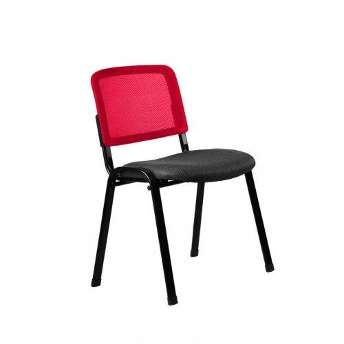 FYLLIANA 3003Μ 093-27-088 Καρέκλα Επισκέπτη Μαύρη/Κόκκινη 51*60*79.5