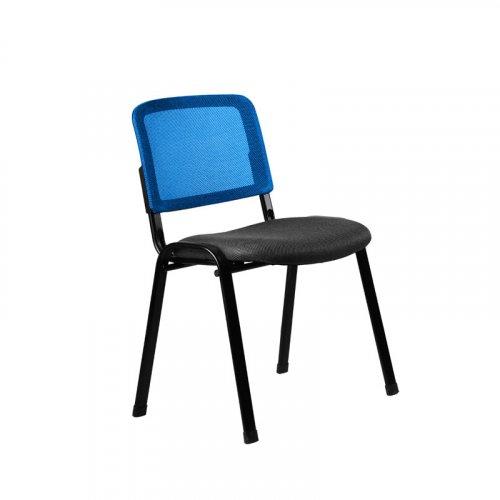 FYLLIANA 3003Μ 093-27-090 Καρέκλα Επισκέπτη Μαύρο / Μπλε  51*60*79.5