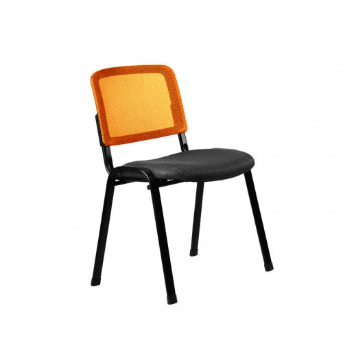 FYLLIANA 3003Μ 093-27-089 Καρέκλα Επισκέπτη Μαύρο / Πορτοκαλί 51*60*79.5