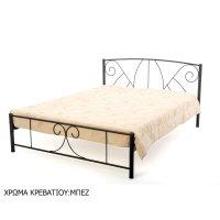 FYLLIANA 827-27-003  Κρεβάτι Σιδερένιο Μπεζ 110 x 200