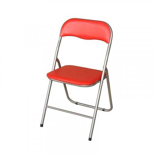 FYLLIANA Α-020 205-15-013 Καρέκλα Σπαστή Κόκκινη 43 x 44 x 78 εκ.