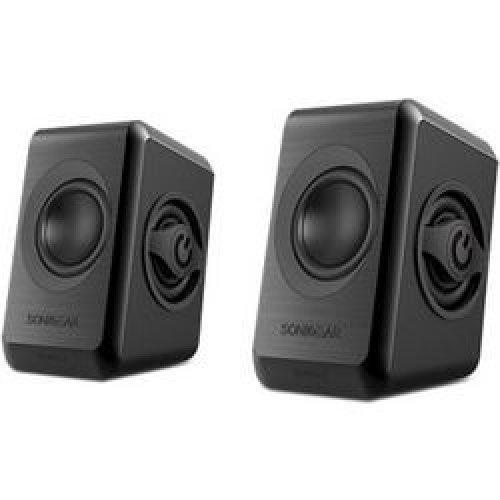 SONIC GEARS QUATRO2BCG Ηχεία με Usb Powered Quad Bass 2,0 Black Cool Grey 0013865