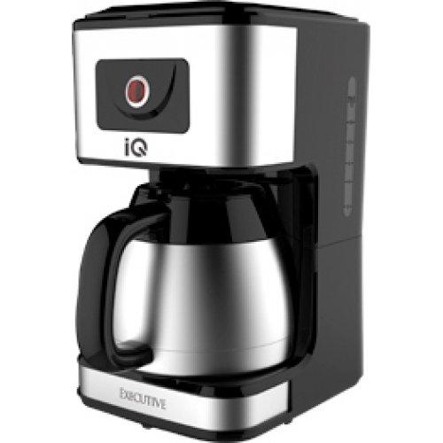 IQ EX-2027 EXECUTIVE Καφετιέρα Φίλτρου με Κανάτα Θερμό Μαύρο/Inox 0014163