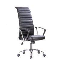 FYLLIANA SP-6351-6 425-16-003 Καρέκλα Γραφείου Μαύρη Δερματίνη 57.5*60*117-127εκ.