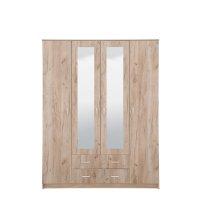 FORMA IDEALE Hana 4Κ2FO 11003069 Ντουλάπα Grey Oak 160*52*205εκ.