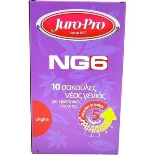 JURO PRO NG6 Σακούλες Ηλεκτρικής Σκούπας για Black 10τεμ