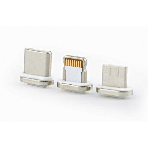 CABLEXPERT Μαγνητικό Καλώδιο 3 in 1 USB Charging Combo Cable - Silver 1m 0014788