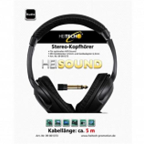 HEITECH HEI0013 Ακουστικά Στερεοφωνικά με Καλώδιο 5m 3.5mm Μαύρα