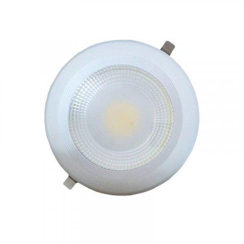 EUROLAMP 145-68202 COB LED Φ220 30W 4000K Φωτιστικό Χωνευτό Λευκό