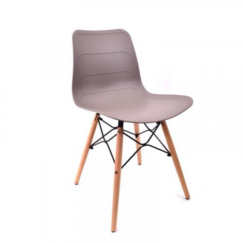FYLLIANA 7034 625-18-006 Καρέκλα Γκρι με Nature Πόδια 48*44.5*78εκ.