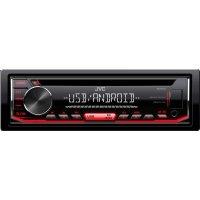 JVC KD-R492 Ράδιο Αυτοκινήτου CD/USB/MP3 με Κόκκινο Φωτισμό - Συμβατό με Android