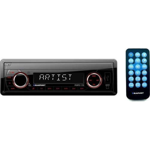 BLAUPUNKT Porto 170  Ράδιο Αυτοκινήτου AUX/SD Card/USB με Χειριστήριο & Κόκκινο Χρωματισμό Πλήκτρων