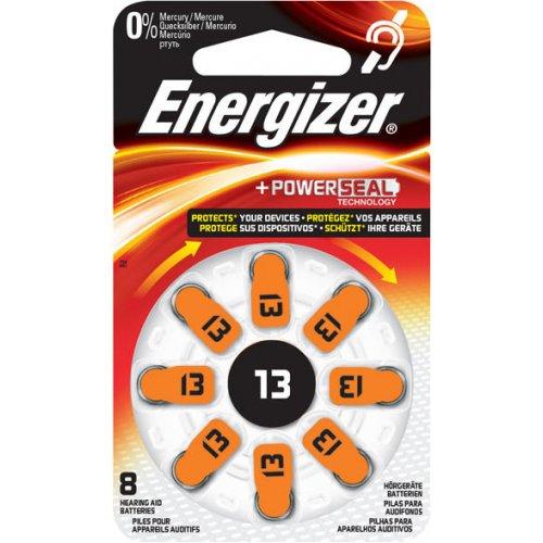 ENERGIZER ZINC AIR 13-8P Μπαταρία ακουστικών βαρηκοΐας ZA13, 1.4V, σε blister 8 μπαταριών 0015718