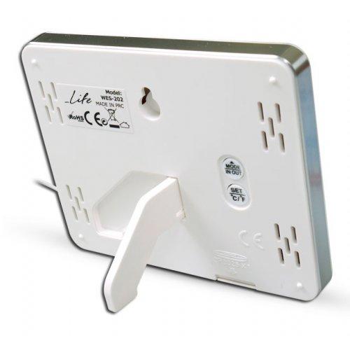 LIFE WES-202 Ψηφιακό Θερμόμετρο Εσωτερικής & Εξωτερικής Θερμοκρασίας Λευκό 0015573